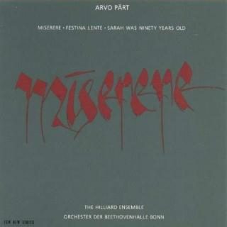 Pärt, Arvo: Miserere - Hilliard Ensemble, The / Hillier, Paul