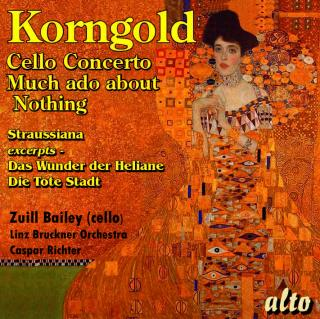 Korngold, Erich: Cello Concerto; Much Ado about Nothing (Suite); Straussiana; - Linz Bruckner Orchestra | Richter, Caspar - conductor | Bailey, Zuill# – cello