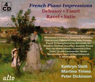 French Piano Impressions: Debussy – Fauré – Ravel – Satie - Stott, Kathryn** - piano | Tirimo, Martino* - piano | Dickinson, Peter*** - piano