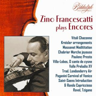Zino Francescatti plays Encores - Francescatti, Zino – violin