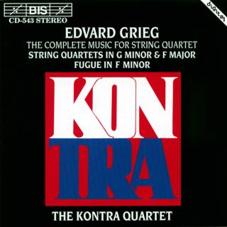 Grieg, Edvard: Complete Music for String Quartet - Kontra Quartet
