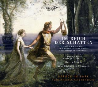 Gluck: Im Reich der Schatten - Texts and music after the opera Orfeo ed Euridice - Adjei, Yosemeh (countertenor) / Schreiter, Corinna (soprano) / Ellrodt, Martin (narrator) / Neue Nürnberger Ratsmusik