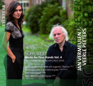 Schubert, Franz Peter: Works for Four Hands Vol. 4 - Vermeulen, Jan & Peeter, Veerle (piano four hands)