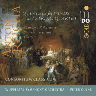 Anton Reicha: Quintets for Winds and String Quartet / Orchestral Music - Consortium Classicum / Wuppertal Symphony Orchestra / Gülke, Peter