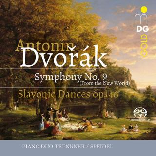 "Dvorák, Antonín: Symphony No. 9 ""From the New World""; Slavonic Dances op. 46; - Piano Duo Trenkner/Speidel"
