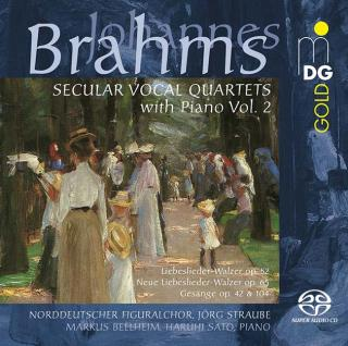 Brahms, Johannes: Secular Vocal Quartets with Piano Vol. 2 - Norddeutscher Figuralchor