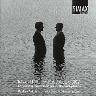 Martinu/ Kabalevski For Cello And Piano - Birkeland, Øystein / Gimse, Håvard