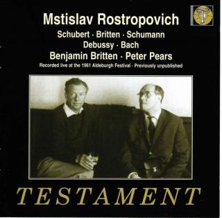 Rostropovich & Britten - Recorded live at the 1961 Aldeburgh Music Festival - Rostropovich, Mstislav - cello | Britten, Benjamin - piano | Pears, Peter - tenor