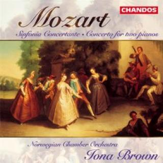 Mozart Concerto for two pianos & Sinfonia concertante - Det Norske kammerorkester / Brown, Iona