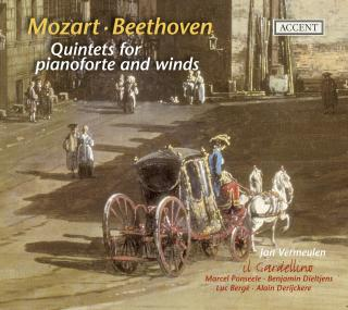 Mozart/Beethoven: Quintats For Piano Forte And Winds - VERMEULEN/IL GARDELLINO