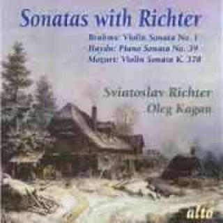 Sonatas with Richter Brahms Beethoven Mozart