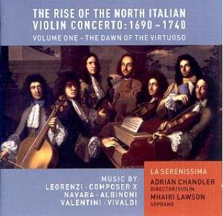The Rise Of The North Italian Violin Concerto 1690-1740 - Vo. 1 - Adrian Chandler