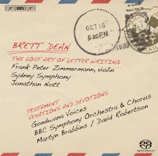 Dean, Brett: The Lost Art of Letter Writing - Zimmermann, Frank Peter (violin) / BBC Symphony Chorus