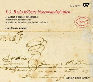 J.S. Bach'S Earliest Autographs - Weimar Organ Book - Jean-Claude Zehnder (organ)