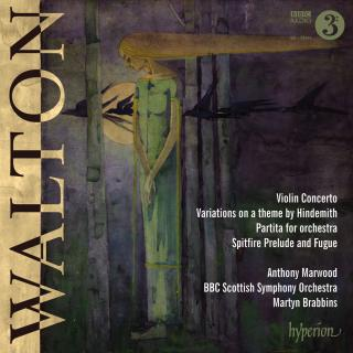 Walton: Violin Concerto, Partita & Variations - Marwood, Anthony (fiolin) / BBC Scottish Symphony Orchestra / Brabbins, Martyn