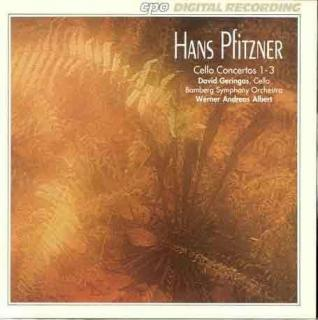 Pfitzner: Cello Concertos In A (1888), In G. Op. 42 (1935) &
