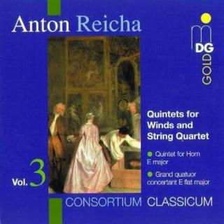 Reicha: Quintets For Winds And String Quartet Vol 3 - Wallendorf/Consortium Classicum