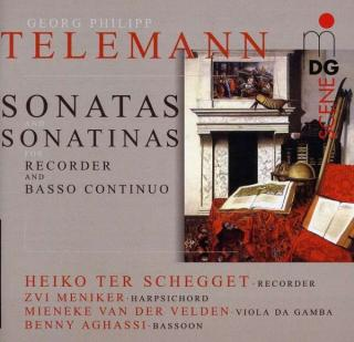 Telemann: Sonatas And Sonatinas For Recorder And B.C. - ter Schegget/van der Velden/Aghassi/Meniker