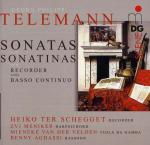 Telemann: Sonatas And Sonatinas For Recorder And B.C. <span>-</span> ter Schegget/van der Velden/Aghassi/Meniker