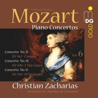 Mozart: Klaverkonserter Vol. 6 - Nr. 14, 15 & 21 - Christian Zacharias (piano and conductor)