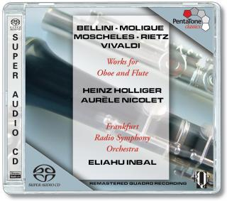 Bellini/Molique/Moscheles/Rietz:Works For Oboe And Flute - Inbal, E./Holliger/Nicolet/Frankfurt Radio Symphony Orchestr