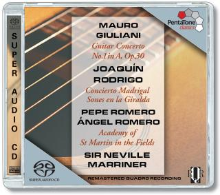 Giuliani/Rodrigo:Guitar Concerto 1/Concierto Madrigal - Marriner, N./Romero/Academy of St. Martin in the Fields