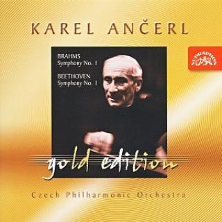 Ančerl Gold Edition 9. Brahms: Symphony No. 1 in C minor - Beethoven: Symphony No. 1 in C major - Czech Philharmonic Orchestra / Ančerl, Karel