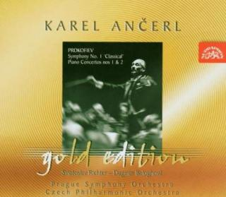 Ančerl Gold Edition 10. Prokofiev: Symphony No. 1 in D major, Concertos for Piano and Orchestra Nos 1, 2 - Richter, Sviatoslav (piano) / Baloghova, Dagmar (piano) / Czech Philharmonic Orchestra / Ančerl, Karel
